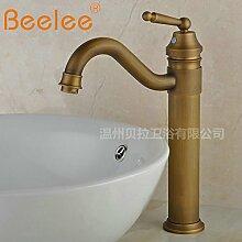 DZXYA Rotary heiße und kalte Tauchbecken Classic Single Loch auf dem Waschbecken Waschbecken Wasserhahn B