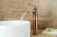 DZXYA Warme und kalte Tauchbecken Classic Single Loch auf dem Waschbecken Waschbecken Wasserhahn