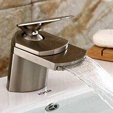 DZXYA Warme und kalte Tauchbecken Classic Single Loch auf dem Waschbecken Waschbecken Wasserhahn,