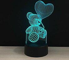DZXYQ Bunt Berühren Sie 3D Nachtlicht LED