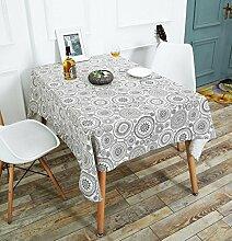 DZYZ Einfache moderne Tischdecke Bedruckte Mahlzeit Home Mit Öl Und Feuchtigkeitsbeständige Leinen Tischdecke Wohnzimmer Rechteckige Tischdecke Verschiedene Größen , Circle , 140*100