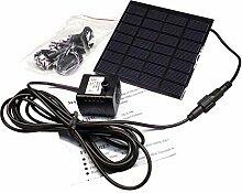 E-3LUE ® 1,2W 7V Solar Power Teich Sauerstoffpumpe Pool Fishpond Fisch Y004