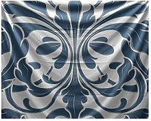 E by Design Wandteppich, geometrischer Druck,