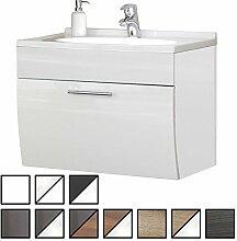 e-combuy Möbel Waschtisch Set Wendum Weiß