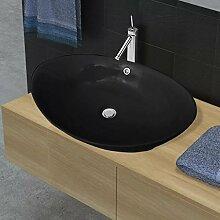 E E-NICES Luxuriöses Keramik Waschbecken Oval