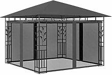 E E-NICES Pavillon mit Moskitonetz 3x3x2,73 m