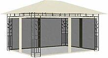 E E-NICES Pavillon mit Moskitonetz 4x3x2,73 m