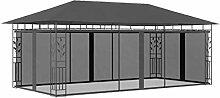 E E-NICES Pavillon mit Moskitonetz 6x3x2,73 m