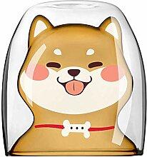 E-Haus Shiba Inu geformte Tassen Glas