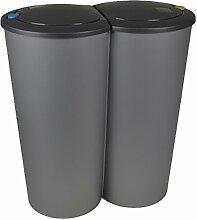 E&K Duo Bin Abfalleimer 2x 25L Mülltrenner