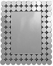 E-line 'Spiegel Modern Wanduhr Bilderrahmen Blasen Rechteck 60x 50cm