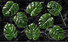 e Pflanze des Bananenblattes Tapete 3D Vlies