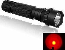 E-Plaza Handheld 1000 Lumen Cree 501b T6 LED Taschenlampe –Rot lich