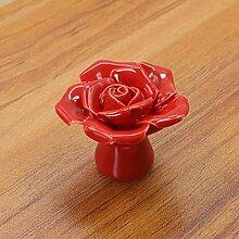 E Support™ 10Stücke Keramik Vintage Floral Rose