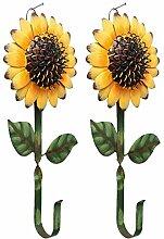E-view Metall-Sonnenblumen-Schlüsselhalter,