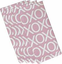 E von Design Valentine Print Serviette, 48,3x 48,3cm Pale Pink