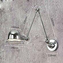 E14 100% metal Wandbeleuchtung, Verstellkopf