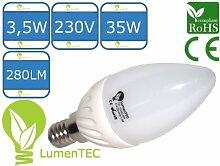 E14, LED E14, 4W E14 Warmweiss 280 Lumen, 35 (3014) SMD LED Lampe 230V CCD Strahler E14 Warmweiß, LumenTEC