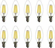 E14 LED Kerzenlicht 6W Warmweiss COB Glühfaden
