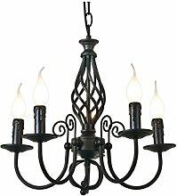 E14 Pastoral Europäische Eisen 8 Köpfe Kerzen