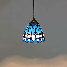 E27*1 Tiffany Deckenleuchte Blau, Mediterran Glas
