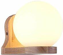 E27 Einfache Stil Bettseite Wandlampe Holz