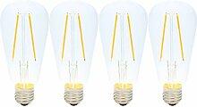 E27 Fassung 2W Dimmbar LED Edison Lampe,2200K Warm