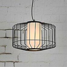 E27 Industrie Retro Classic Birdcage Kronleuchter Restaurant Living Zimmer Dekoration schwarz Anhänger Licht Runde Lampe,40*30cm