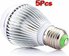E27 LED Lampe - SODIAL(R) 5 Stueck E27 10W Warmweiss Energiesparende Kugel LED Helle Lampen Birne 110 ~ 240V
