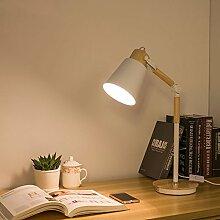 E27 Schreibtischlampen LED Eisen Augenschutz Design Kreative Schlafzimmer Studierzimmer Wohnzimmer Leseraum Tischlampe Nachttischlampe Leselampe Energie-Sparleuchte Stehleuchten Nachttischlampen Licht Die Leuchten