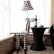 E27 Stehlampe Kinder Bodenlampe IP20 Stehleuchte Modern Deckenfluter Hirsch Standleuchte Leselampe Schöne Leseleuchte Tischleuchte (Koffee)