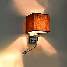 E27 Tuch Wandlampe Indoor, Metallrahmen