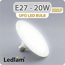 E27 UFO LED Birne 20W 2000UP - kaltweiß - Hohe