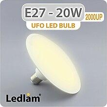 E27 UFO LED Birne 20W 2000UP - warmweiß - Hohe