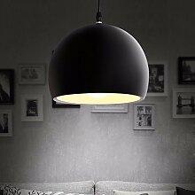 E27 Vintage Pendelleuchten Loft lamparas de techo Nordic retro Lampen edison Lampen industria Leuchte Lampe, schwarz D 350 MM