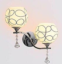 E27 Wandlampe Glas klar, American style