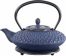 ea4chill Gusseisen Teekanne Aneko 0,6l dunkelblau