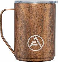 EAF Kaffeebecher mit Deckel und Griff, Edelstahl