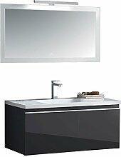 EAGO Badmöbel Milano ME-1000 dunkelgrau/100x45