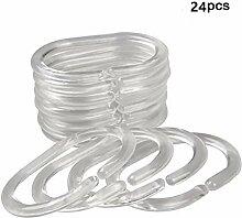 eanfa 24PCS Duschvorhang Haken & #-; Haken Ringe