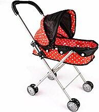 Earlyad Baby Puppen Spielzeug Trolley Kinderwagen