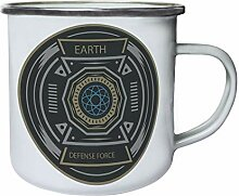 Earth Defence Force Badge Retro, Zinn, Emaille