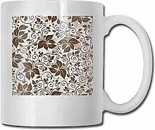 Earth Tones Porzellan-Teetasse mit geometrischen
