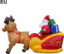 Earthily Aufblasbarer Weihnachtsmann mit Schlitten