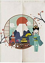 East Majik Vorhang im japanischen Stil, für