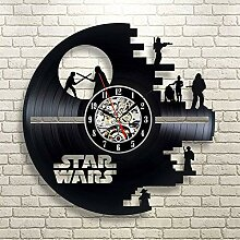 Eastery Star Wars Wanduhr Vinyl Record Wanduhr