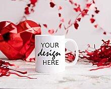 Eastlif 4 X Valentinstag Mock Ups Kaffeetasse