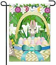 Eastlif Grafik Frohe Ostern Garten Flagge Vertikal