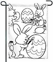 Eastlif Osterkorb 5k Ostern Garten Flagge