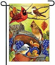 Eastlif Vogel auf Eimer-Garten-Flagge, Hallo